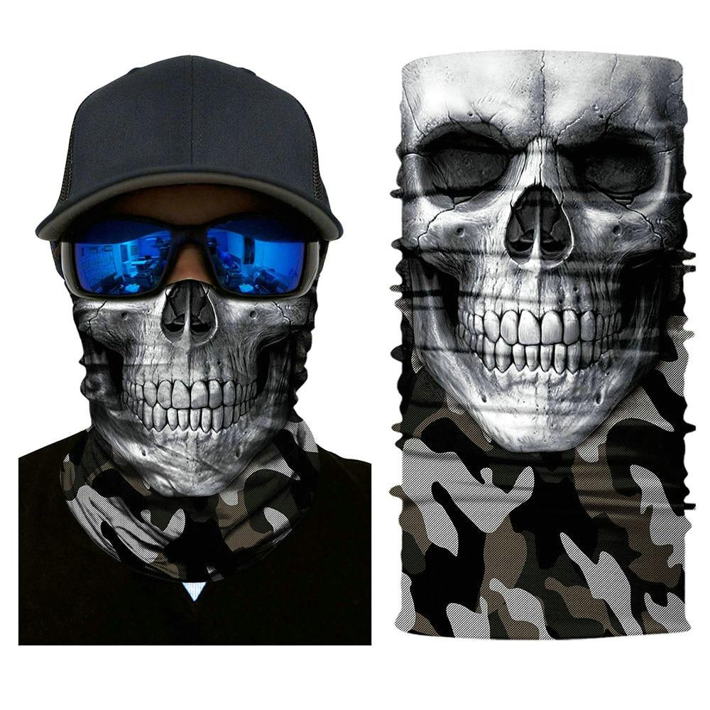 High UV Function Skull Face masks Bike Bandana Multifunctional Headwear Tube Pirate Scarf Ghost Mouth Motorcycle Face Shield