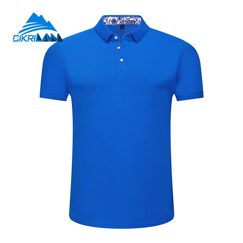 2018 Mens Outdoor Quick Dry Trekking Golf Polo Shirt Short Sleeve Sport Camping Climbing Hiking T-shirt Men Fitness Fishing Tops