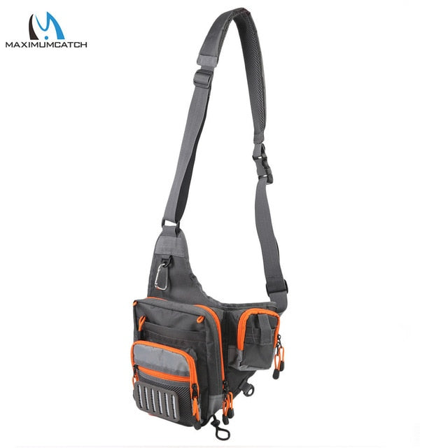 Maximumcatch V Cross 23*21*8.5 cm Fishing Bag Waterproof Multi Function Fishing Waist Bag Pack Fishing Sling Bag with Fly Patch