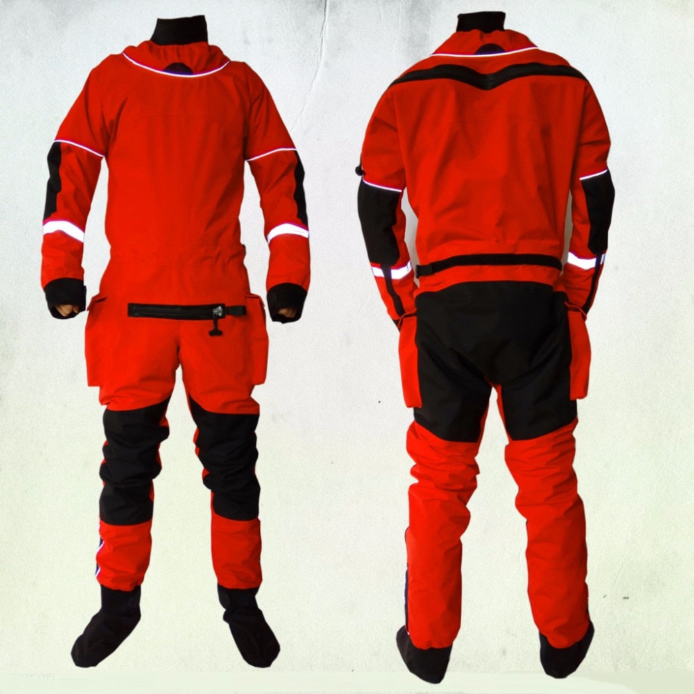 2018 UNISEX dry suit latex neck/wrist,attached socks for water recue whitewater,kayak,rafting,kateboarding,canoeing,fishing