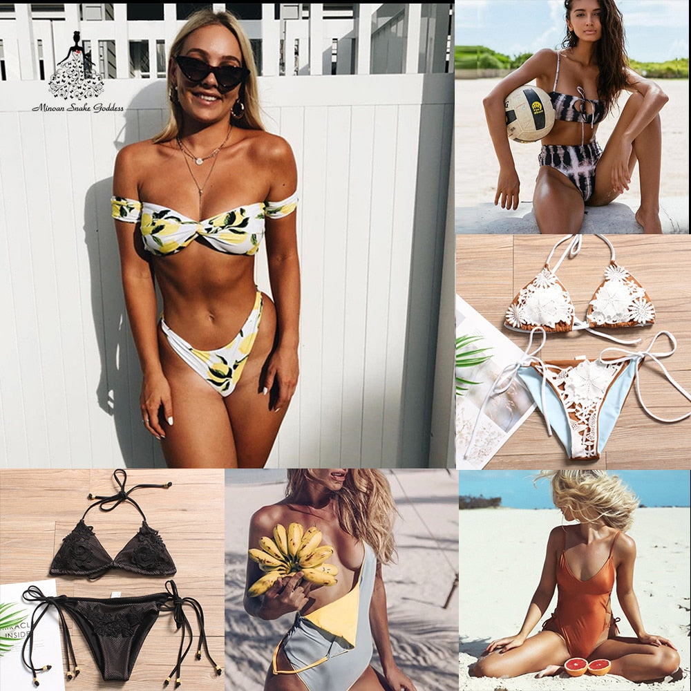 bikini 2018  swimsuit female bathing suit women push up bikini swimming suit for women brazilian bikini swimwear swim suit