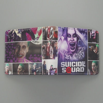 High Quality Joker Suicide Squad Movies Comic Wallets For Women Student Teenagers Small Wallet With Cards Holder For Men Wallets
