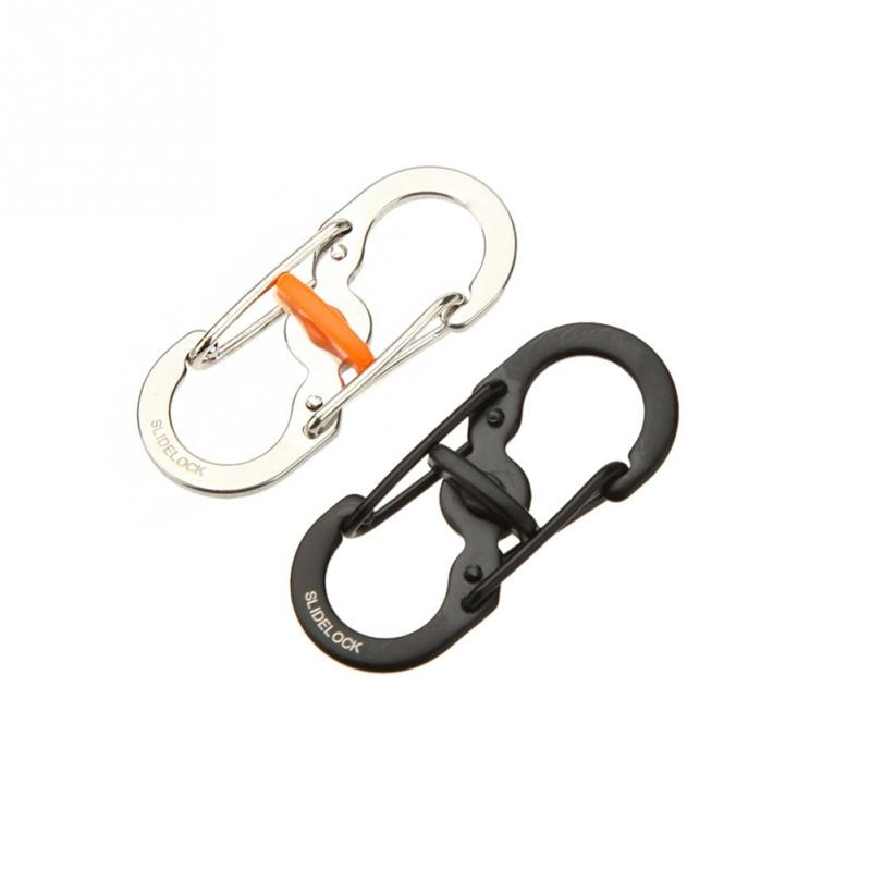 Stainless Steel 8-Shape Buckle Snap Clip Climbing Carabiner Backpack Outdoor Camping Equipment Anti-theft Hanging Keychain
