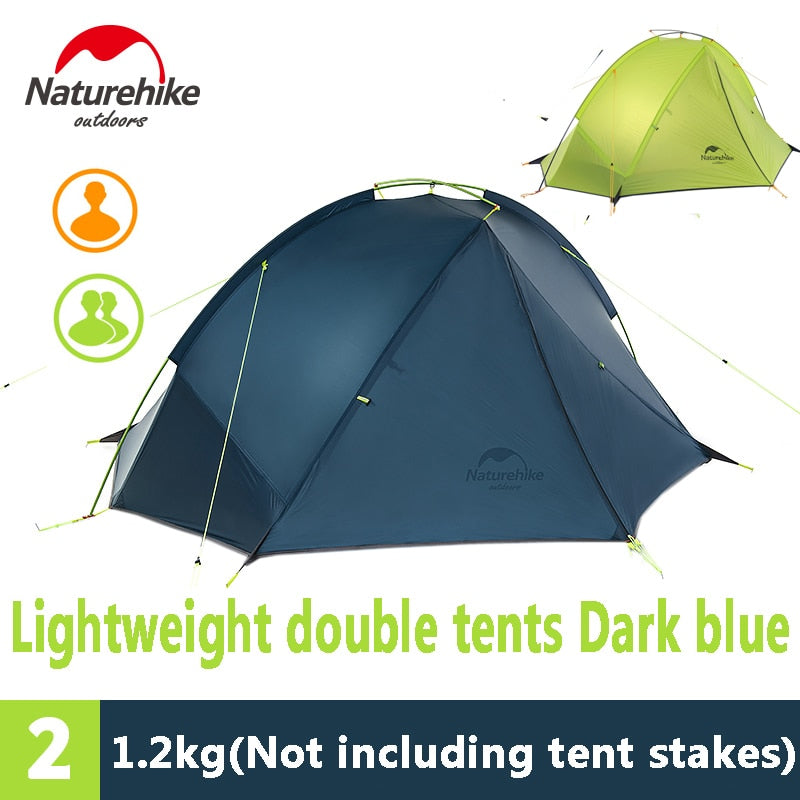 Naturehike 1-2 Person 20D Silicone Tent Outdoor Camping Ultralight Waterproof Single-layer Tent only 1kg