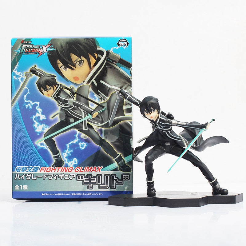 15cm Anime Sword Art Online Kazuto Kirito Fighting Climax PVC Action Figure Collectible Model Doll Toy