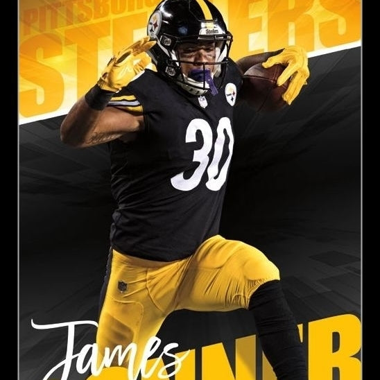 Pittsburgh Steelers - James Conner Laminated & Framed Poster Print (22 x 34)