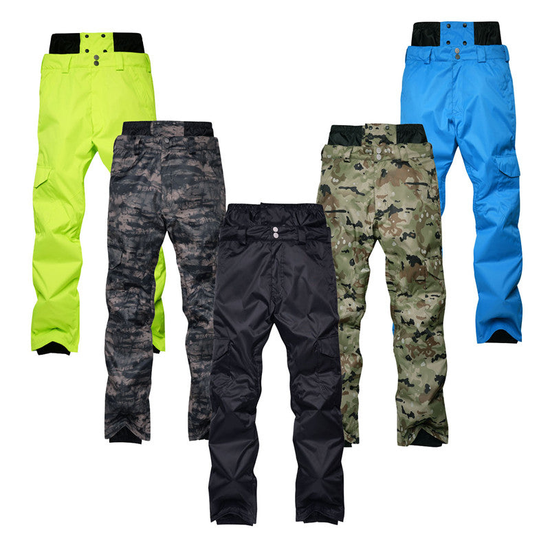 Camouflage Men snow pants professional Snowboarding clothing Waterproof windproof Breathable winter outdoor sports ski trousers