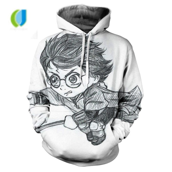 2018 autumn man harry potter costume hoodie with harry potter clothing 3d printed hoodie sweatshirt