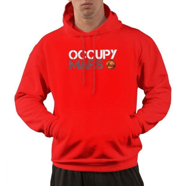 For Man Occupy Mars Space Planet Hoodie Hat Sweatshirt with Pocket Free Shipping