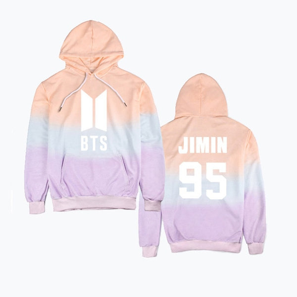 2018 new kpop BTS Bangtan Boys hooded Gradient concert Same paragraph hoodie Korean version of men and women trend