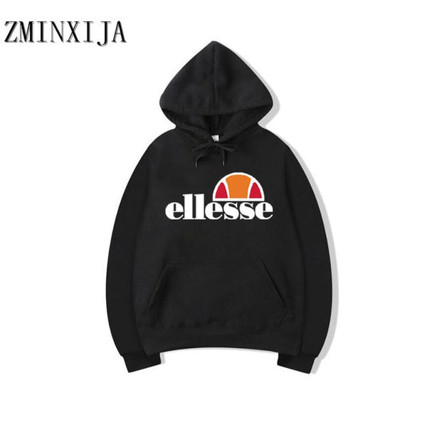 2018 New Fashion Brand Men/Women Ellesse printing Hooded Casual Sweatshirt Winter Thickened Warm Hoody Hip Hop plus size M-2XL
