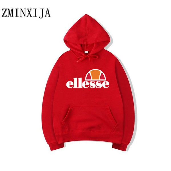 2018 Ellesse Hooded Sweatshirt Graphic Brand Warm Hoody Women And Men's Unisex Sweatshirt