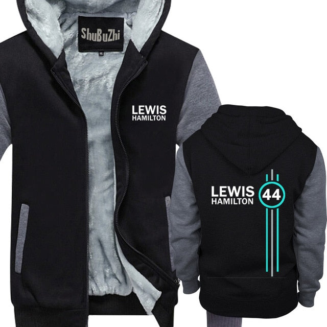 Lewis Hamilton 44 Mens Hoodies mens thick fleece hoody fashion brand coat winter clothes euro size free shipping