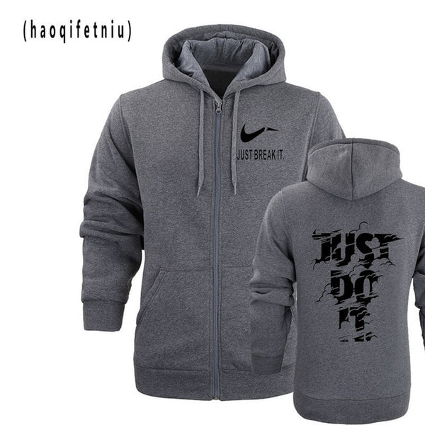 New 2018 Hoodies Men Long Sleeve Hoodie Lightning JUST DO IT print Sweatshirt Mens Casual Brand Clothing Hoody Jacket