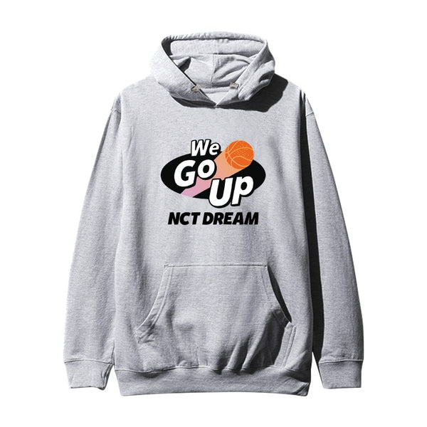 Kpop nct dream new album Go up Basketball printing Hoodies Men Autumn Clothing fashion unisex loose Sweatshirt Plus Size Tops