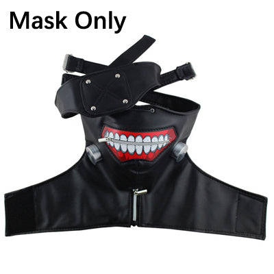New Version Luxury LATEX Tokyo Ghoul Ken Kaneki mask with Adjustable Zipper Japan Anime cosplay accessory halloween prop gift