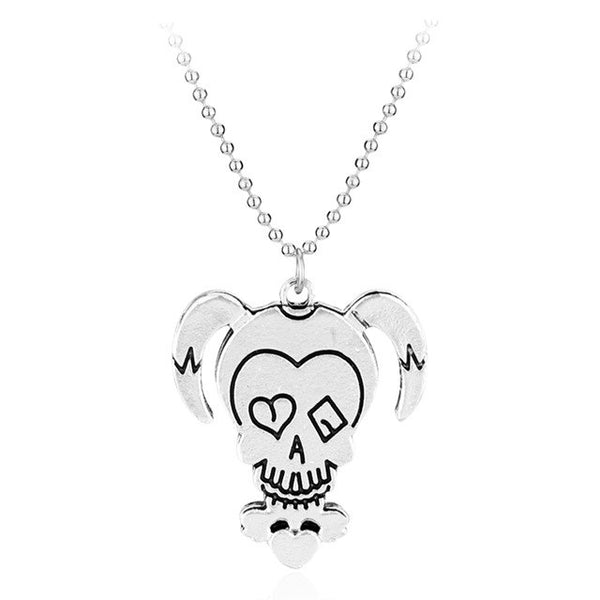 Movie Suicide Squad Necklace cute cartoon joker Pendant Beads Chain necklace men women fashion jewelry