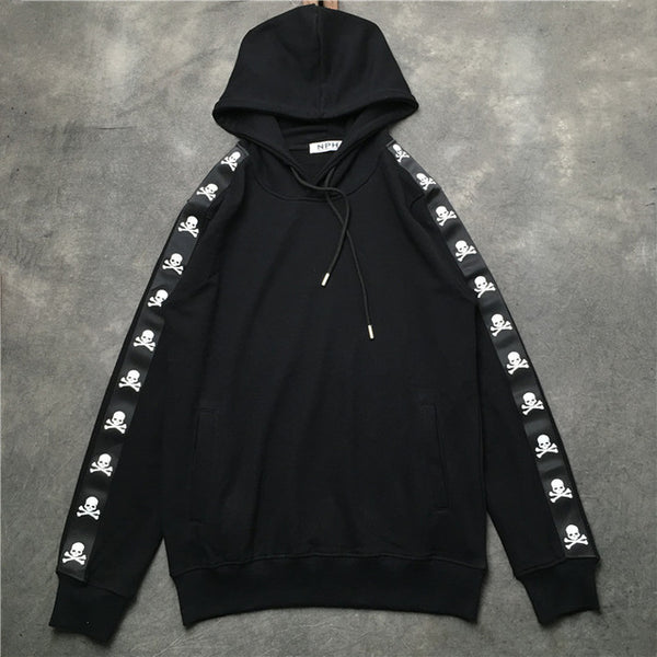 2019SS NEW Mastermind WORLD Sleeve Skeleton Printed men Pullover Hoodies hip hop Japan MMJ Skateboard Sweatshirts Black S-XXL