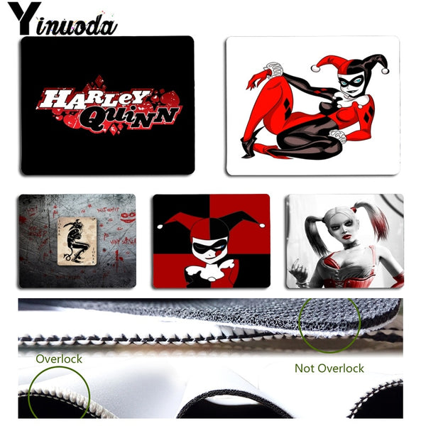Yinuoda New Designs Harley Quinn Suicide Squad Office Mice Gamer Soft Mouse Pad Size for 18x22cm 25x29cm Small Mousepad