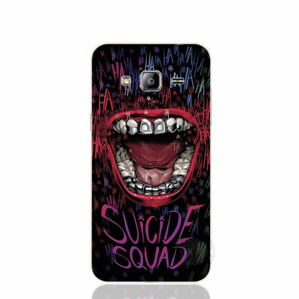 HAMEINUO suicide squad Joker harley quinn  cover phone case for Samsung Galaxy J1 J2 J3 J5 J7 MINI ACE 2016 2015