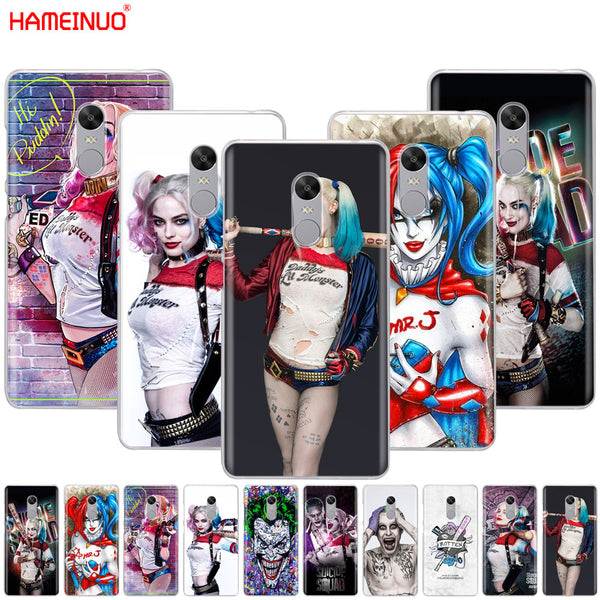 HAMEINUO Harley Quinn Suicide Squad Joker Cover phone  Case for Xiaomi redmi 5 4 1 1s 2 3 3s pro PLUS redmi note 4 4X 4A 5A