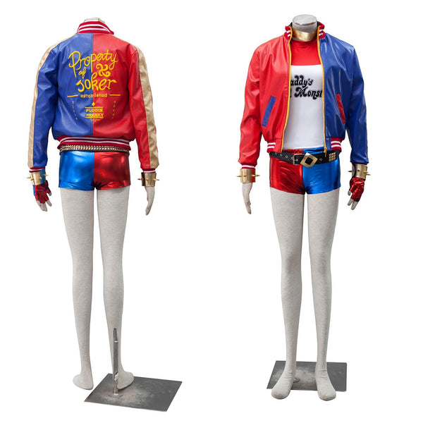 harley jacket suicide squad for adults cosplay costume set suicidal arkham asylum halloween costumes women plus size sexy quinn
