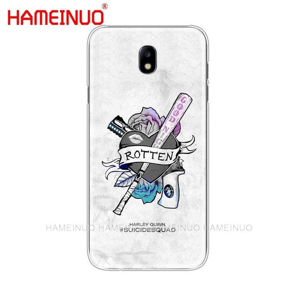HAMEINUO Harley Quinn Suicide Squad Joker cover phone case for Samsung Galaxy J3 J5 J7 2017 J527 J727 J327 J330 J530 J730 PRO