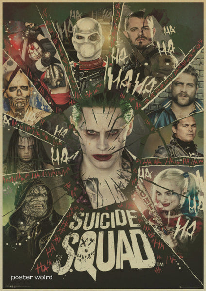vintage poster Home Decor Retro Kraft Paper Suicide Squad DC Comics Movie Game Posters Bar Wall Picture For Living Room