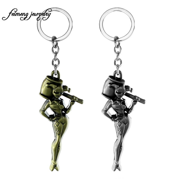 2017 Hot Movie Suicide Squad Metal Keychain Joker Key Chain For Women Chaveiro Jewelry