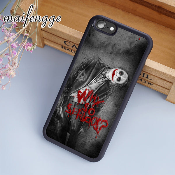 maifengge Joker Batman Suicide Squad DC Marvel Case For iPhone 6 6S 7 8 Plus X 5 5S SE Case cover for Samsung S5 S6 S7 edge S8