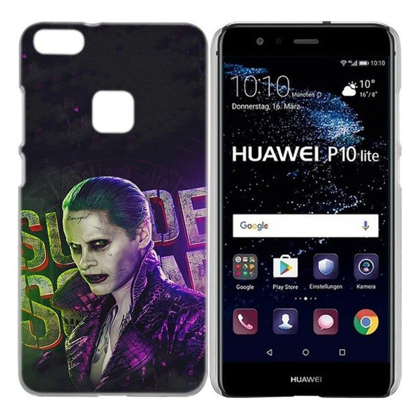 BINYEAE Harley Quinn Suicide Squad Case Cover Hard Plastic for Huawei P8 P9 P10 P20 Lite Plus Pro Lite 2017