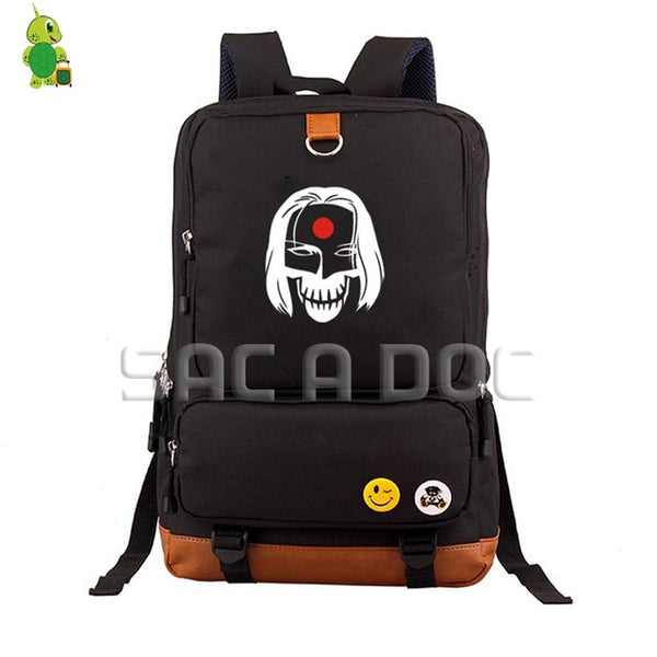 Suicide Squad Harley Quinn/Joker School Bag Women Men Laptop Backpack for Teenage Boys Girls Large Capacity Laptop Backpack