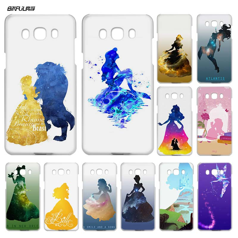 BiNFUL Beauty And The Beast paint Clear Case Cover Coque Hard Shell for Samsung Galaxy J1  J3 J5 J7 2016 2017 J5 J7 Prime