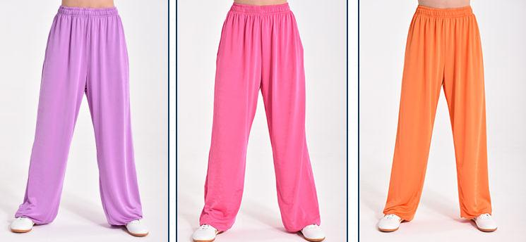 9color high quality UNISEX kung fu martial arts taiji training pants summer tai chi quan trousers bloomers black/pink/blue