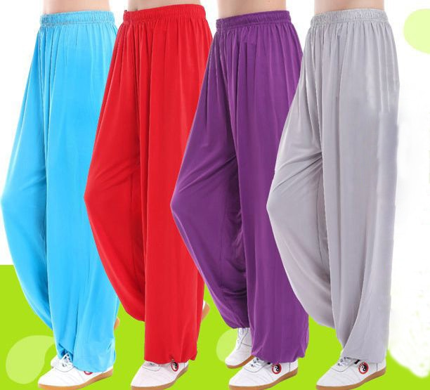 10color unisex blue/purple Summer&Spring tai chi pants modal tai chi training pants kung fu bloomers martial arts yoga trousers