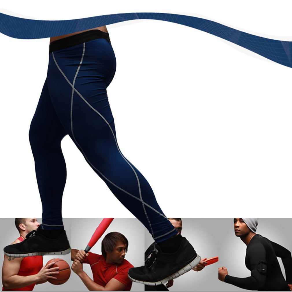Outdoor Quick Dry Tight Slim Running Sports Pants Full Length Mens Running Pants  Men Jogging Trousers & Pants