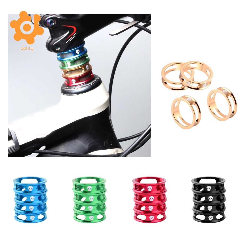 4Pcs CNC Aluminum Alloy 10mm MTB Bike Bicycle Headset Ring Cycling 28.6mm 1 1/8 inch Front Fork Stem Spacers Washers Replacement