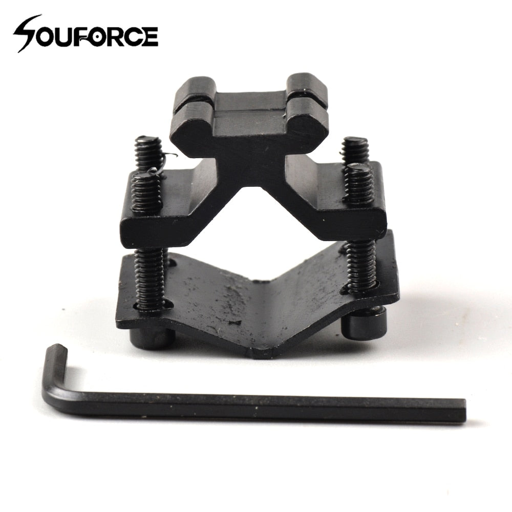 1pc Tactical Bipod Adapter with 20mm Rail Mount for Bipod with Picatinny Rail and Flashlight or Riflescope for Hunting Accessory