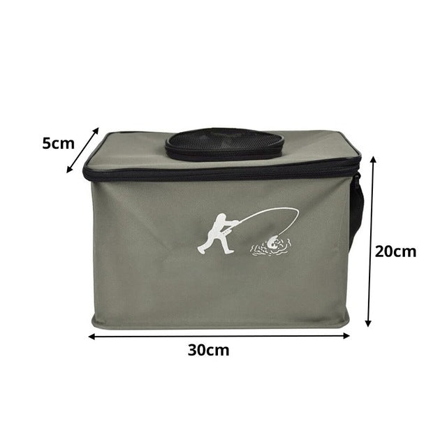 30/45 cm Outdoor  EVA Canvas Fishing Bucket Folding Water Tank Fishing Bucket Wire Support Live Fish Bucket Fishing Supplies