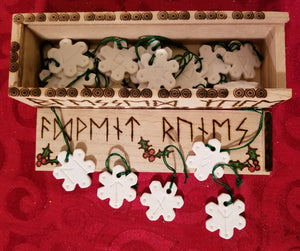 Advent Runes with Wood Burned Box