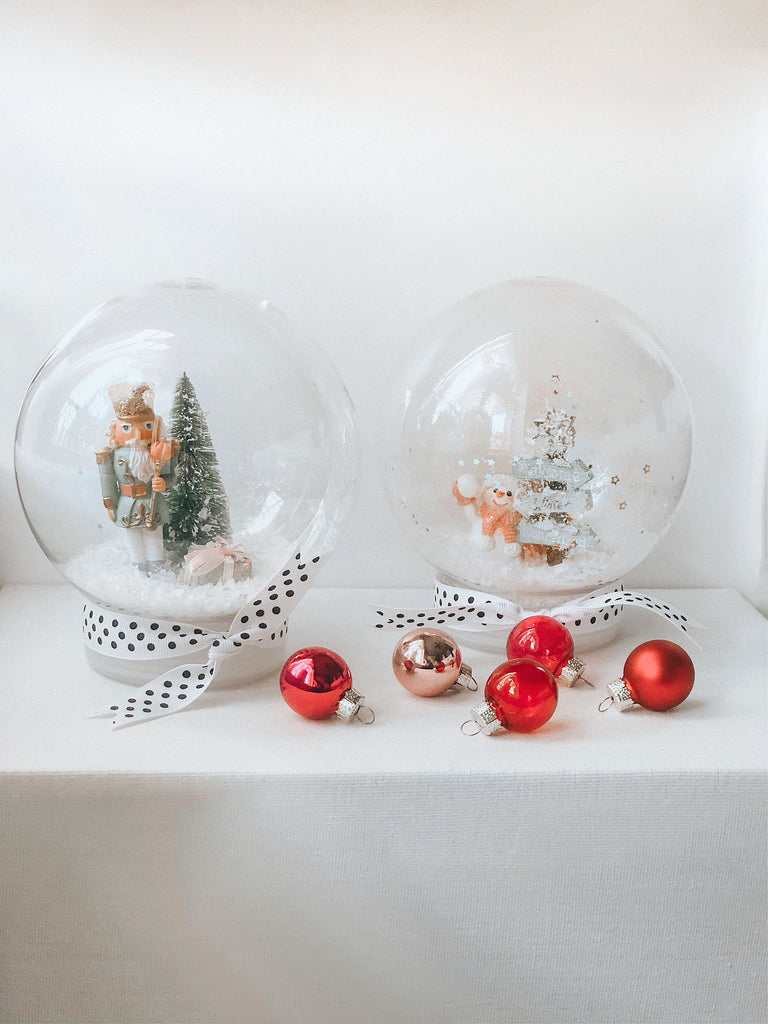 DIY Holiday Shaker Globes.