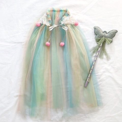 *PRE-ORDER* Pastel Butterfly Cape.