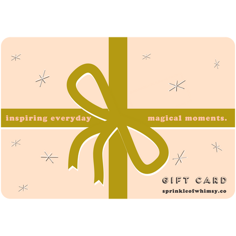 Sprinkle of Whimsy gift card.