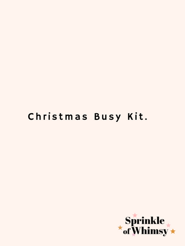 Christmas Busy Kit.