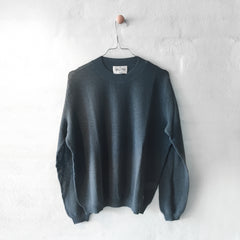 Wuth Cashmere - Mesh Pullover Petroleum - 100% ren cashmere fra No17 Limited