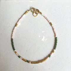 Fragment Bracelet Rose/Green/Gold