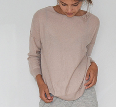 Wuth Cashmere Oversize Pullover Powder