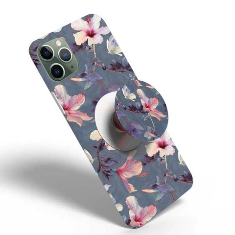 Crazywears Printed Phonecase with White Popsocket - Floral - 01