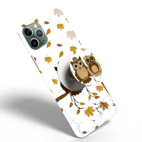 Crazywears Printed Phonecase with White Popsocket - Owl - 08