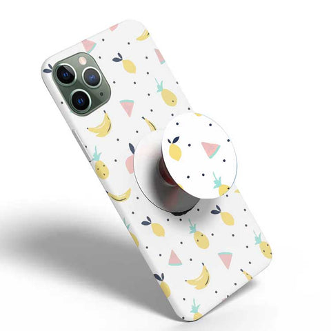 Crazywears Printed Phonecase with White Popsocket - Fruits - 12